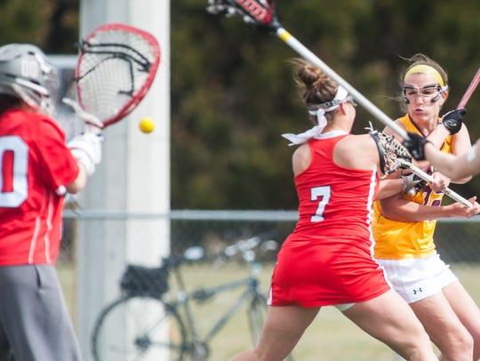 Salisbury attack Megan Wallenhorst (22) takes a shot