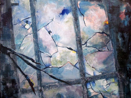 "Paula Eckerty's ""Broken Windows"" was inspired by Pat Washington's ""Caged."""