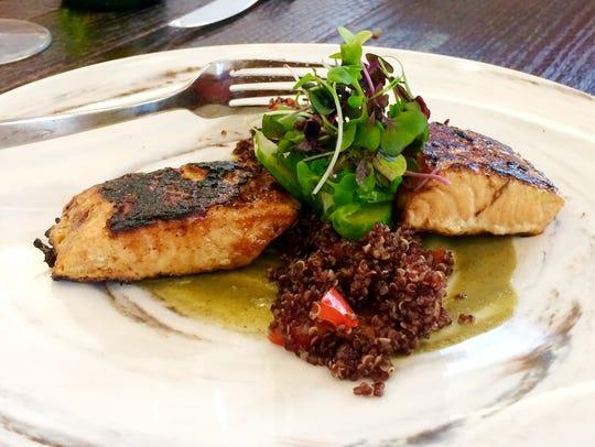 Tandoori Chilean salmon at Louie's Wine Dive.