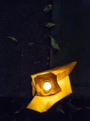 Pictured is the inside of a Luminaria on Sunday, December