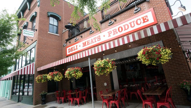 Outdoor seating at Mercato Italiano in Norton Commons plays into the old world themes found on the menu. 5/23/17