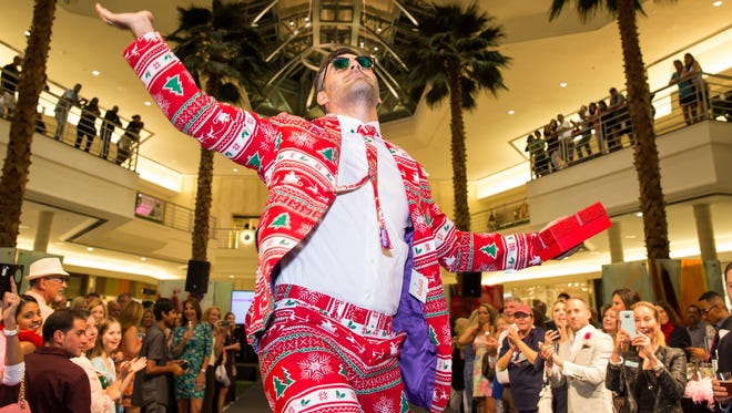 Nick Kassatly struts his wild pants Oct. 20 at The Arc of Palm Beach County's annual WILD Pants Party.