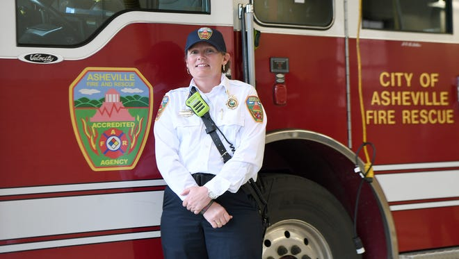 Asheville Fire Department Division Chief Joy Ponder was diagnosed with breast cancer in 2017.