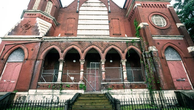 Quinn Chapel African American Methodist Episcopal (AME) Church at 912 West Chestnut Street in the Russell neighborhood received landmark designation in 1980, but now sits in need of repairs and renovations. 6/11/18
