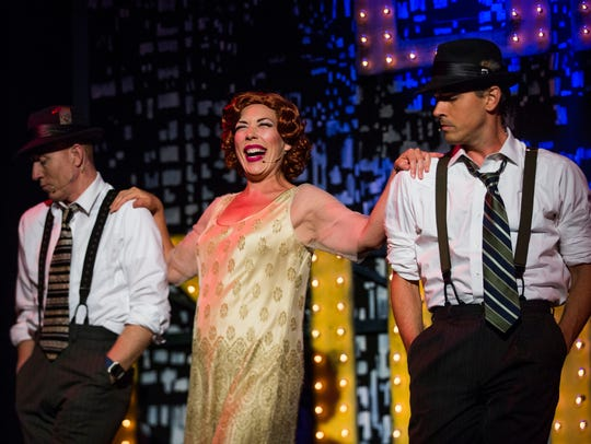 "TheatreZone actress Becca McCoy, center, in ""Legs Diamond,"""