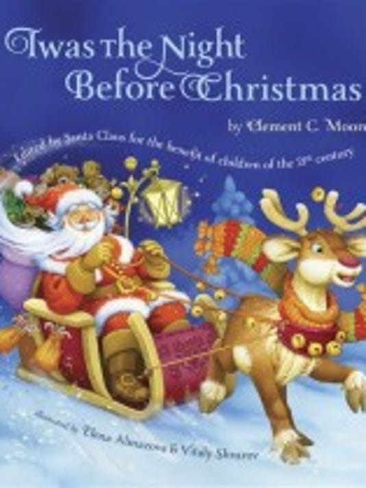 This book cover image released by Grafton and Scratch Publishers shows 'Twas the Night Before Christmas,' by Clement C. Moore. This new version of 'Twas the Night Before Christmas' has eliminated all references to a smoking Santa. (Grafton and Scratch Publishers)