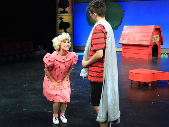 Iliana Garcia as Sally and Ezekiel Mercado as Linus