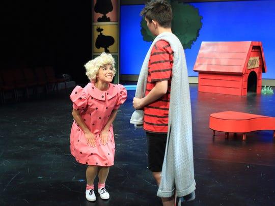 Iliana Garcia as Sally and Ezekiel Mercado as Linus