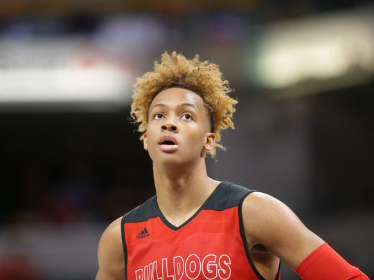 Romeo Langford finished his high school career fourth on the all-time Indiana state scoring list, with 3,002 points.