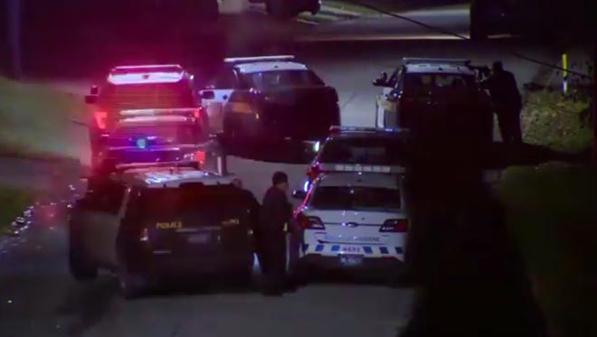 A police officer was fatally shot and another wounded while responding to a domestic disturbance call Nov. 10, 2016, in Canonsburg, Pa.