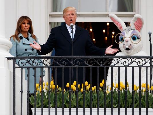 Donald Trump, Melania Trump, Easter Bunny