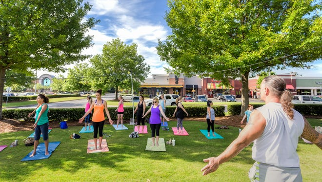 There are no tickets necessary for the Free Yoga on The Green that is held every Saturday at 9 a.m.