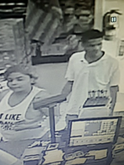 Sheriff Matt Lutz believes two individuals captured on video surveillance at a Roseville store on Saturday may be involved in an armed robbery at Roseville Pharmacy.