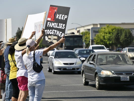 More than 200 activists participate in the Visalia