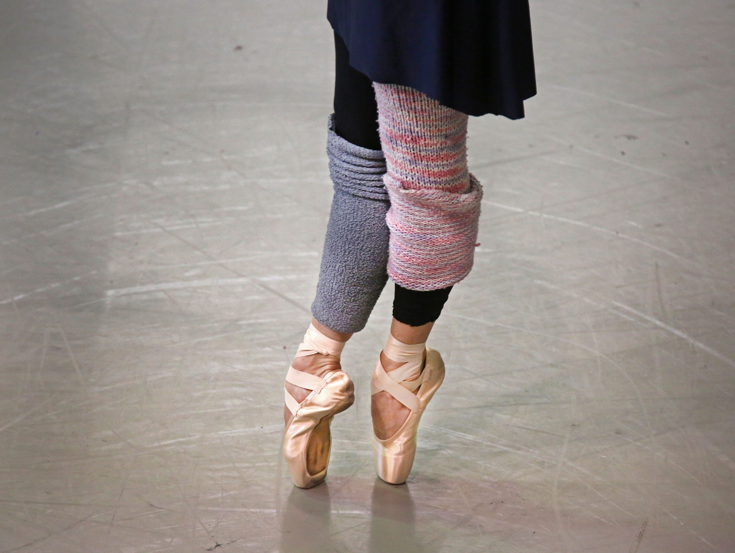 Gema Diaz, rehearses at the Cincinnati Ballet in Over-The-Rhine,
