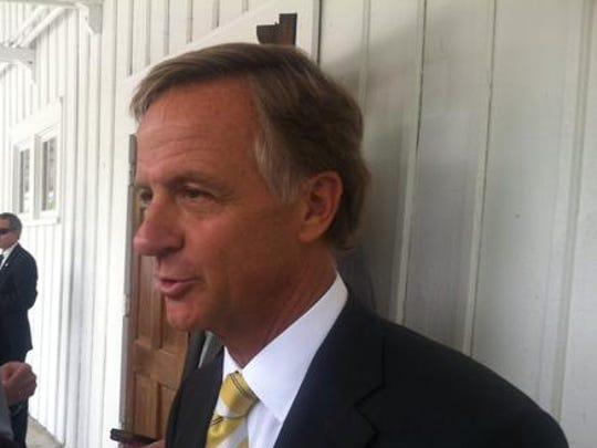 Gov. Bill Haslam said Tuesday he supports removing