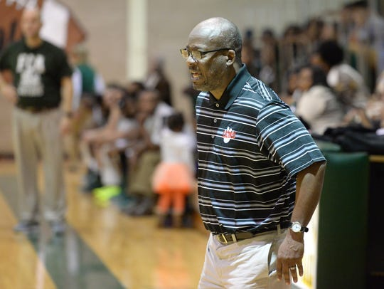 Plain Dealing head coach David Bryant watches as his