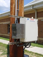 This is one of the air monitors that measures hydrogen sulfide levels in the Wedgewood neighborhood.