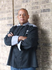 "Chef Todd Richards, a competitor on ""Iron Chef America"""