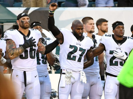 NFL players remind Trump that Eagles didn't actually kneel during the anthem last season