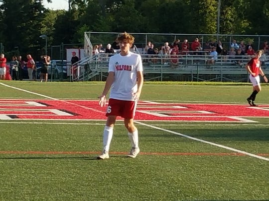 Milford's Joey Round popped in four goals in the Eagles opening victory