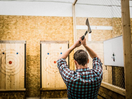Starting this spring, you can try your hand at ax-throwing