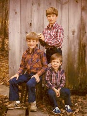 Greg Gard (rear) and younger brothers Garry (left) and Jeff all enjoyed sports together when they were growing up.