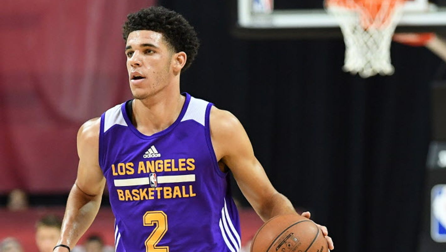espn.com Lonzo Ball leaves Lakers  Summer League playoff win with calf  strain 41dafb607
