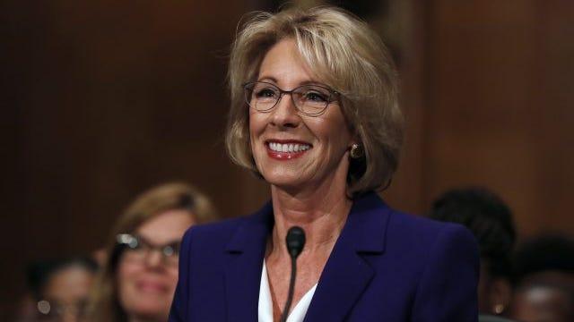 The new Secretary of Education, Betsy DeVos.