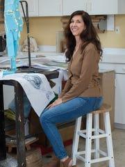 Kristen Visbal in her studio in Lewes. Kristen created