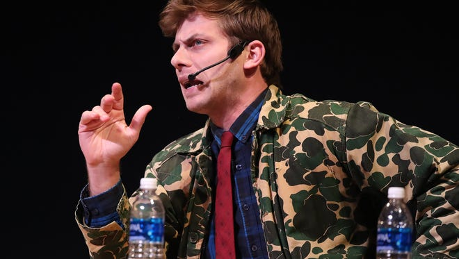 Charlie Berens brought his Manitowoc Minute to the Weidner Center for the Performing Arts at UW-Green Bay Tuesday, March 6, 2018, in Green Bay, Wis.