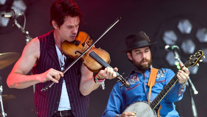 Old Crow Medicine Show performs during the Bonnaroo Music and Arts Festival in Manchester, Tenn., Saturday, June 9, 2018.