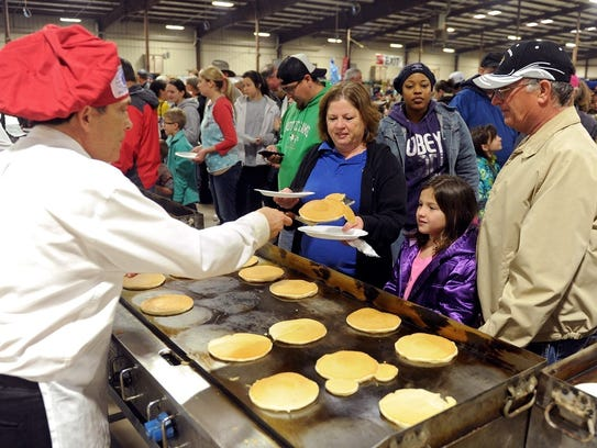 The Univesity Kiwanis Pancake Festival will be 6 a.m. to 6 p.m., Jan 27. J.S. Bridwell Agricultural Hall.