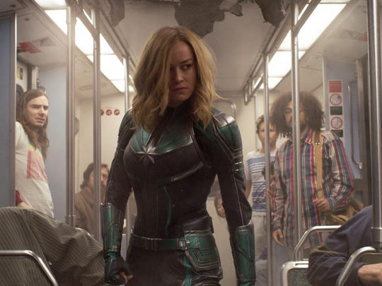 """Brie Larson stars in """"Captain Marvel,"""" the first of six (soon to be seven) Disney movies released in 2019 that brought in more than $1 billion at the box office."""