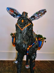 """Burros are coming out of my ears,"" is one of the latest additions to Gallery 408's collection."
