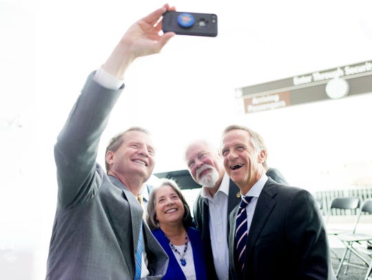 Knox County Mayor Tim Burchett takes a selfie with