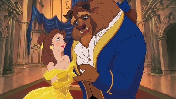 Here's what the animated Belle and Beast looked like