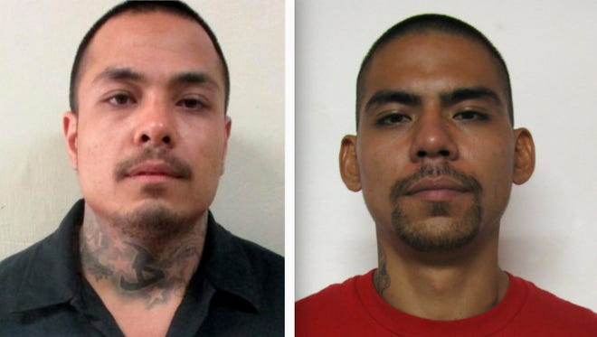 Jeremiah Santos Isezaki, left, and Albert Babauta Santos III are shown in this combined photo.