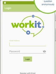 A screenshot showing the WorkIt smartphone app for