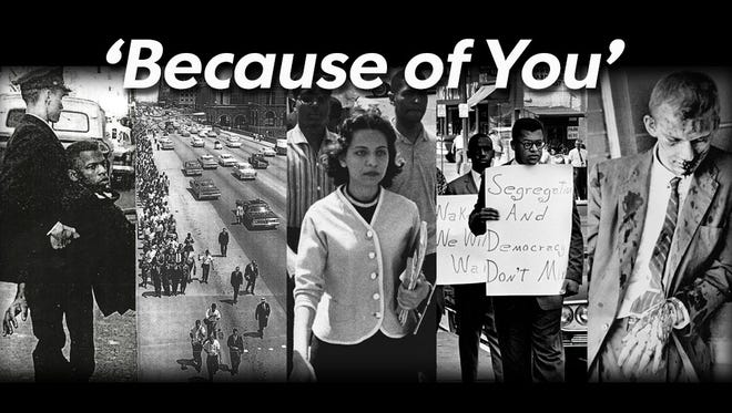 'Because of You,' a series of profiles highlighting the events and people involved in the Civil Rights movements that happened in Nashville.