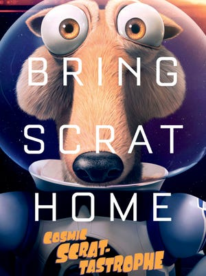 A poster for the 'Ice Age' short 'Cosmic Scrat-tastrophe' spoofs Matt Damon and 'The Martian.'