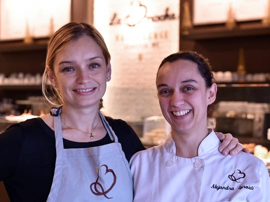 Sisters and co-owners Cristina Lazzari (left) and Alejandra