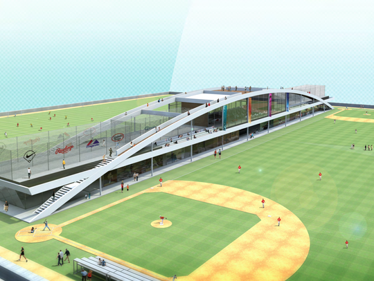 Architect's rendering of inside of the planned Sports