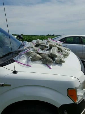 An Indiana State Trooper found 20 pounds of spice during a Wednesday traffic stop on Indiana 18 in White County.