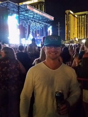 Jesse Sidor posed for a photo at the Jason Aldean concert in Las Vegas, which a few minutes later became the setting of the largest mass shooting in American history.