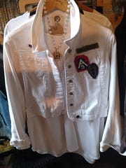 This blouse is an example of the custom-designed fashions that are part of Gearhead Fashion's line.