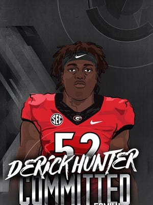 Dunbar four-star defensive end Derick Hunter Jr. verbally committed to Georgia.