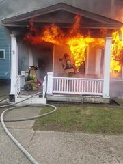 No one was injured in a fire on the 200 block of West Church Street Monday morning. The fire is believed to have been intentionally set.