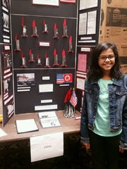 Hailey Desai, a 6th-grader at Auten Road Intermediate School, earned a spot at the National Contest to present her exhibit on the Cuban Missile Crisis.