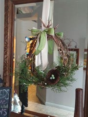 Suzie Long recently finished this spring wreath. The columnist went to Tai Pan Trading for some of the elements to complete the decor.